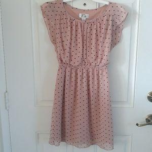 Small Sweet Storm Polka Dot Dress cream pink